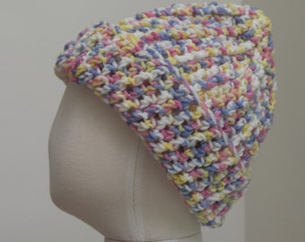 Pastel variegated yarn hat M (T3-T4)