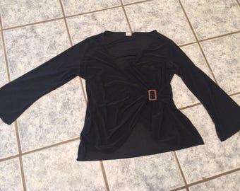 Elegant Blouse, approx. Gr 46/48 (EU Size),Plus Size,Evebing Dress,black,Classy Shirt