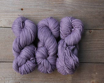 100% Merino Worsted Superwash 4-ply Naturally Dyed with Logwood