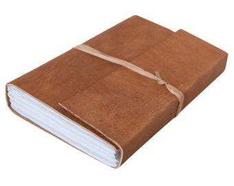 Raw Leather Bound Journal