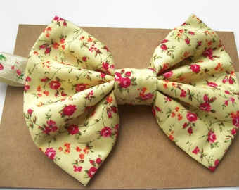 Big Baby Bow Headband, Baby Photography Props, Floral Fabric Bow, Baby Hair Bands, Toddler Hair Bows