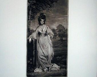 Lady Elizabeth Compton - Mezzotint