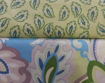 1 Yard Each Cotton Fabric by the Yard or Half Yard Fabric, or fat quarter, Floral Fabric,  Quilting Fabric,