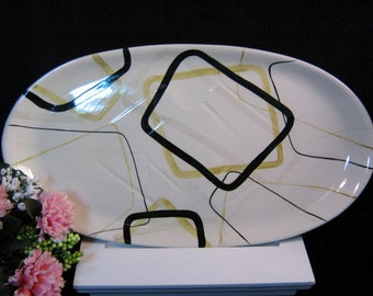 Vintage Red Wing Smart Set Extra Large Platter 1950's, Vintage Pottery Dinnerware, Collectible Dinnerware, Mid Century Modern Pottery
