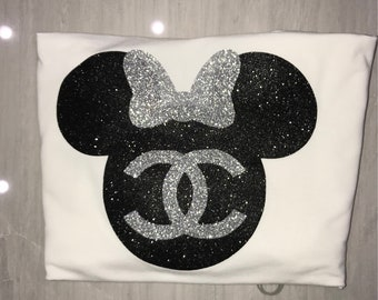 Chanel inspired Minnie Mouse shirt Minnie Mouse chanel shirt disney Minnie Mouse shirt