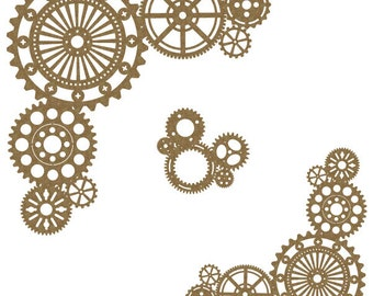 Steampunk Corner Set Laser Cut Chipboard FREE SHIPPING! in US