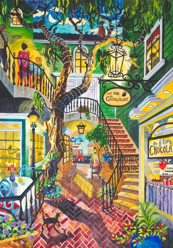 Laguna Beach California with Black Cat, Tree, Art Festival Trolly and Watermarc Restaurant During Night Life