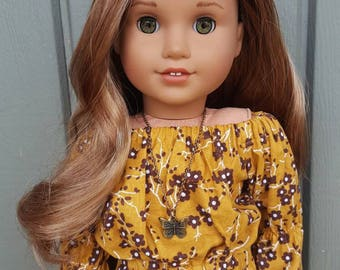 American girl doll bronze butterfly necklace
