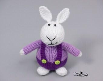 White rabbit Plush bunny rabbit Soft toy Stuffed bunny toy Boyfriend gift Hand knit toy Plush hare Stuffed animal Bunny doll Little plushie