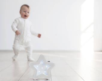 Star Night Light Gift for baby Night Light Nursery Nursery bedding Kids Star Wall Decor Led Night Light Wood Night Light Night Light Kids