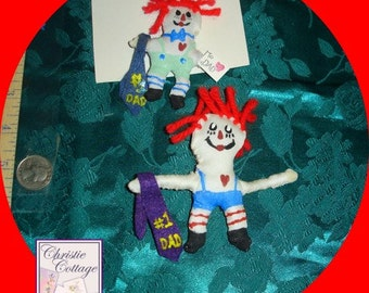 Father's Day, Raggedy Andy, Pin, Handmade