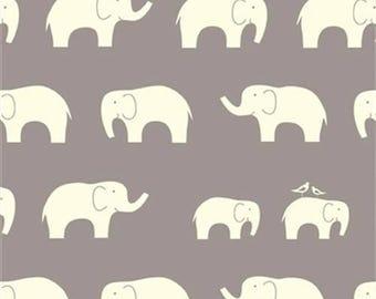 Gray Elephant Organic Cotton Knit Fabric - Birch Fabrics - Gray Elephant Organic Cotton Knit Fabric