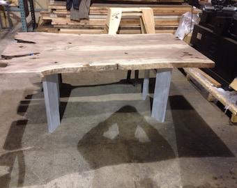 Aluminum dining table base.