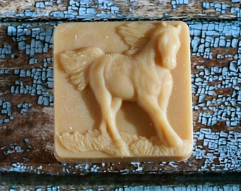 Horse Goat's Milk Soap, Running Horse Soap,Scented Horse Soap,  Homemade Soap, Made in Montana Soap