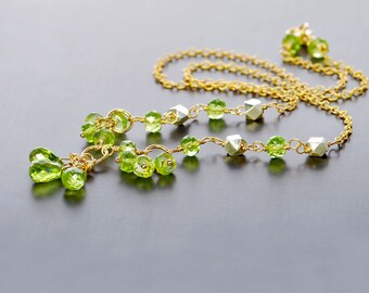 Peridot Necklace by Agusha