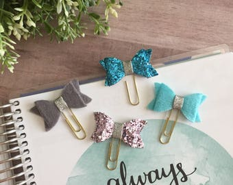 Felt or Sequined Bow Page Clip