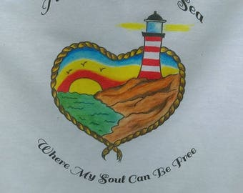 Take me to the sea where my soul can feel free, beach shirt, beach baseball t, lighthouse shirt