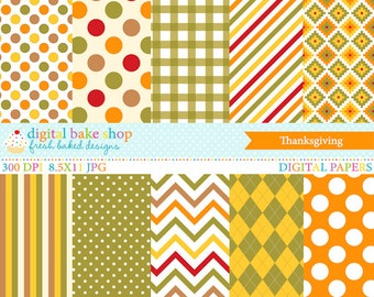 thanksgiving papers digital printable - Thanksgiving Papers