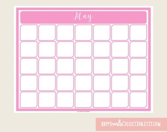 May Calendar {Printable} Instant Download // 8.5x11
