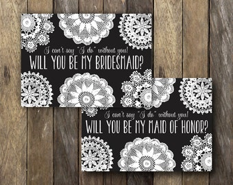 Printable Bridesmaid Cards - Will you be my Bridesmaid - Instant Download Bridesmaid Card - Bridesmaid Invitation Card - Ask Bridesmaid Card