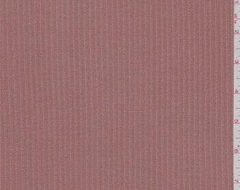 Terra Cotta Orange Rayon Rib Knit, Fabric By The Yard