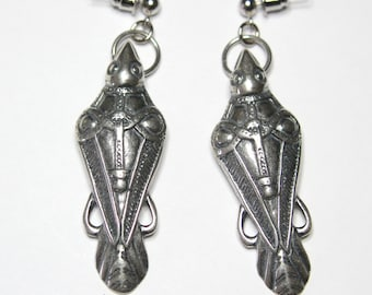 Odin's Raven Earrings Ancient Silver Odin's Ravens Viking Earrings Viking raven Jewelry 124