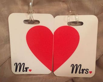 Lugagge Tags - Personalized Mr. & Mrs.