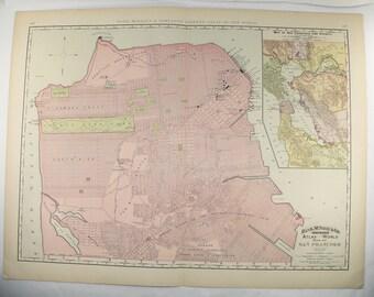 Vintage Sf Map Art Etsy - Vintage sf map