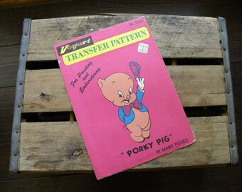 Vogart Porky Pig Transfer Pattern