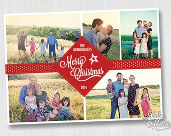 Multiple Photo Personalized Christmas Card - You Print