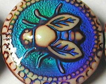 Mirage 19 x 9mm honeybee color-changing mood bead