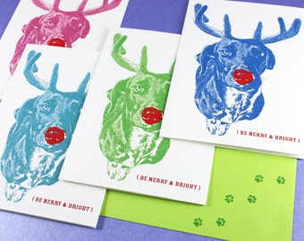 Custom Holiday Cards Featuring YOUR Pet - CAT, DOG, Custom Pet Portrait
