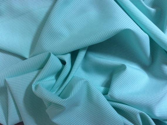 Coton poplin, check weave no3, pastel green