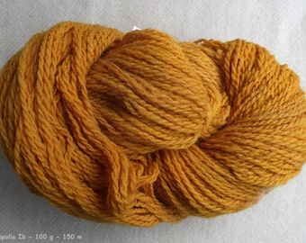 "Yarn ""Susu Cipolli"" hand-spun, 2 ply - Merino, nature contact coloring colored onion-skin"