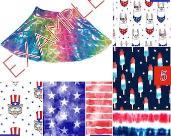4th of July Skirt (Baby Skirt,Toddler Skirt,Kids Skirt,Bombpop Skirt,Abe Skirt,Star Skirt,Stripe Skirt,TieDye Skirt,Llama Skirt,Independence