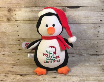 Personalized Baby Cubbie Penguin Cubbie Baby EmbroideredCubbies Stuffed Animal Personalized Stuffed Animal Baptism Gift Birth Announcement