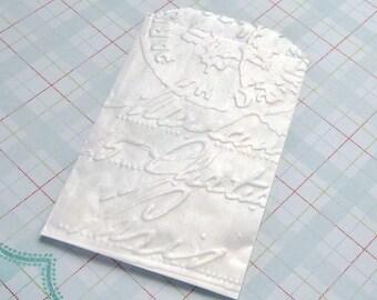 20 Glassine Bags Embossed Paris Postmark 3.25 x 4.75 inches