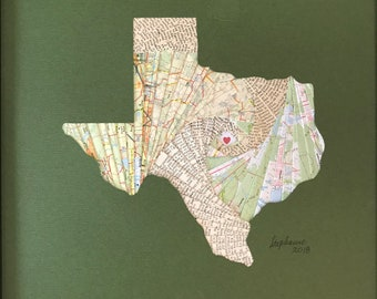 Iris Fold Map - Your State - Custom Art