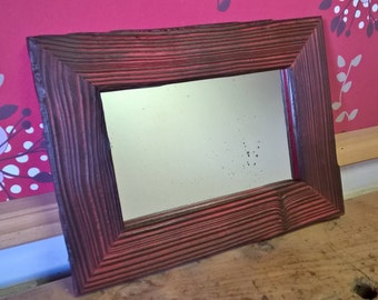 Mirror frame red wood