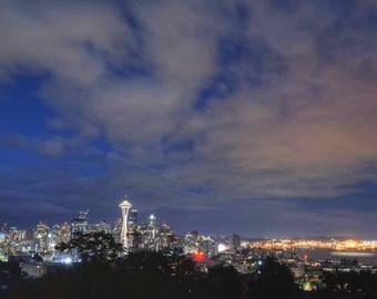 A View of Seattle at Night