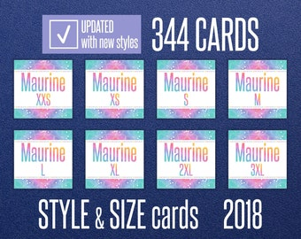 LLR Style & Size Cards * H O Approved * INSTANT DOWNLOAD * Facebook Album Covers * Style Cards * Name * Size Cards * Marketing Set -LLRRW01