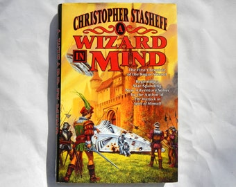 A Wizard in Mind by Christopher Stasheff First Edition Vintage Hardcover Book Number One in Series