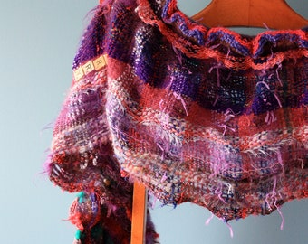 Berry, a Narrow Wrap in purples *price drop*