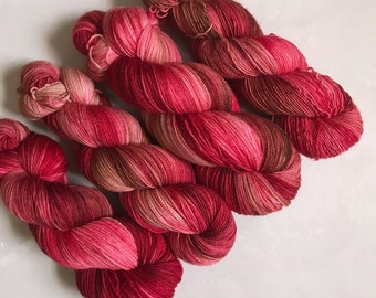 Solo Fingering 'Flame Trees' Hand Dyed Yarn