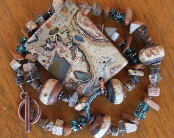 DESERT OASIS Necklace (Stromatolite, Quartz, Jasper)