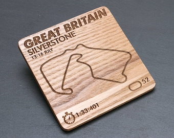 Formula 1 Track Maps Coasters - Motorsport - perfect gift for a husband, boyfriend, dad - Any track available please ask!