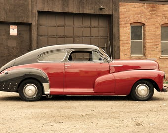 Old Red and Black Chevy
