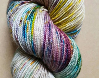 DYED TO ORDER: Hand Dyed Speckled Sock Yarn ~ The Cottage ~