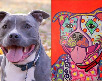 Custom Pet Portraits with one pet