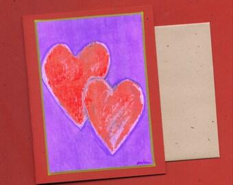 Heart Art Note Card - Tangled Hearts Blank Card